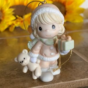 🌿 PRECIOUS MOMENTS FIGURINE CHRISTMAS ORNAMENT